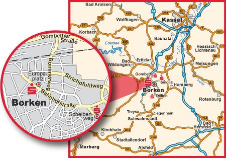 Lageplan von Borken