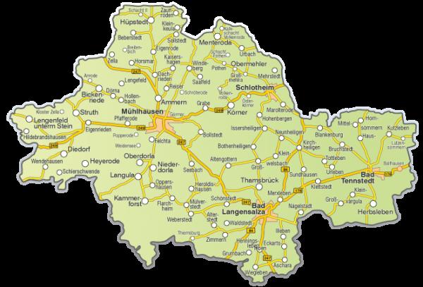Unstrut-Hainich-Kreis-Karte