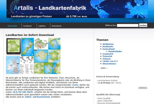 Artalis - Landkartenfabrik