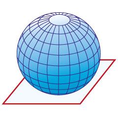 Die 3-Dimensionale Erdkugel auf eine 2-Dimensionales Medium verebnen.